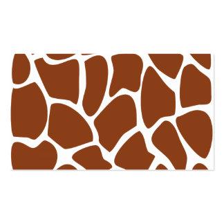 Brown Giraffe Print Pattern Business Card Template