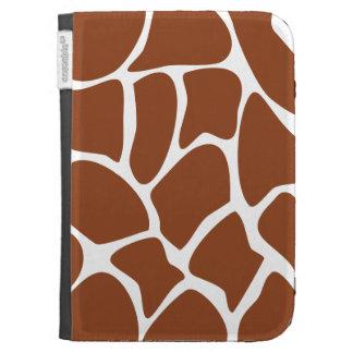 Brown Giraffe Print Pattern. Kindle Case