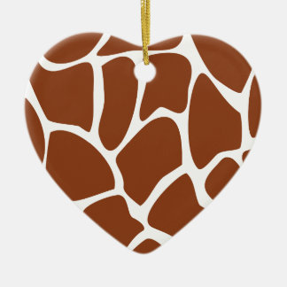 Brown Giraffe Print Pattern. Christmas Ornament