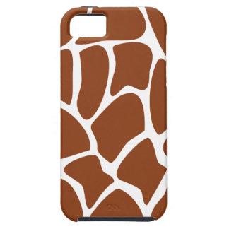 Brown Giraffe Print Pattern. iPhone 5 Case