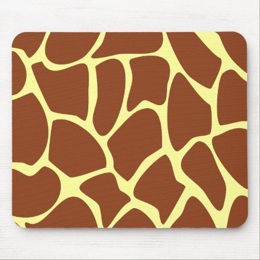 Brown Giraffe Print Pattern. Mouse Pad