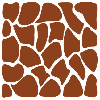 Brown Giraffe Print Pattern. Cut Outs