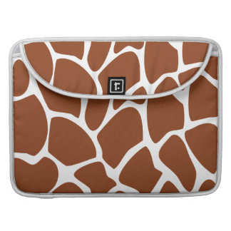 Brown Giraffe Print Pattern. Sleeve For MacBook Pro