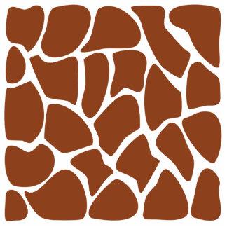 Brown Giraffe Print Pattern. Standing Photo Sculpture