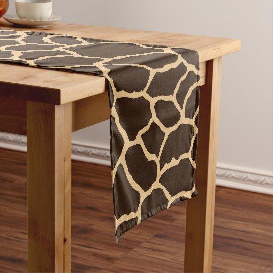Brown Giraffe Skin Pattern Short Table Runner