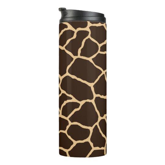 Brown Giraffe Skin Pattern Thermal Tumbler