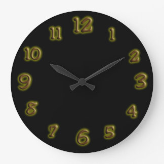 Brown Glowing Paint Clock Face