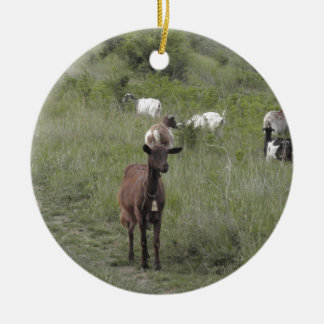 Brown Goat Christmas Ornament