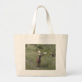 Brown Goat Tote Bags