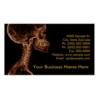 Brown Gold C-spine customizable business card