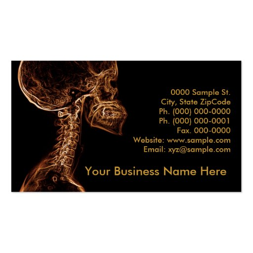 Brown/Gold C-spine customizable business card