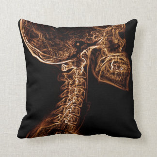 Brown/Gold C-spine toss pillow Throw Cushions