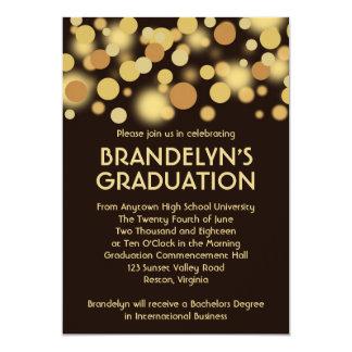 Brown Gold Celebration Graduation Announcement