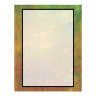 Brown Gold Green Earthy Abstract Design Customised Letterhead