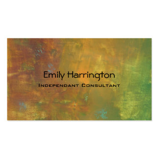 Brown Gold Green Earthy Abstract Design Pack Of Standard Business Cards