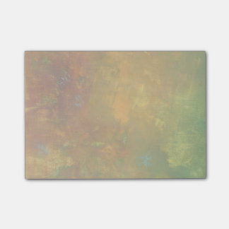Brown Gold Green Earthy Abstract Design Post-it® Notes