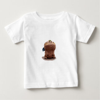 Brown Goofy looking dragon with green eyes Baby T-Shirt