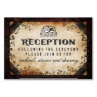 Brown Gothic 3x5 Reception Card #1 - Cheaper