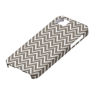 Brown gray whimsical zigzag chevron pattern case for the iPhone 5