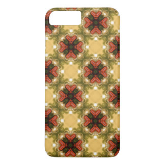 Brown, Green And Cream Retro Abstract  Pattern iPhone 8 Plus/7 Plus Case