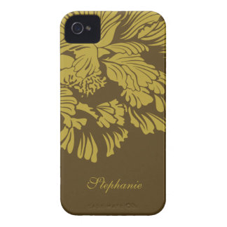 Brown green flower personalized blackberry bold blackberry cases
