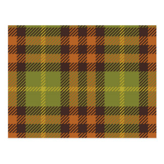 Brown & Green Plaid Postcard