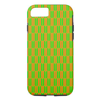 Brown Green Yellow Geometric Pattern iPhone 8/7 Case