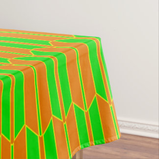 Brown Green Yellow Geometric Pattern Tablecloth