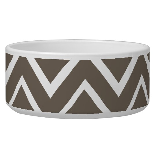 Brown grey whimsical zigzag chevron pattern