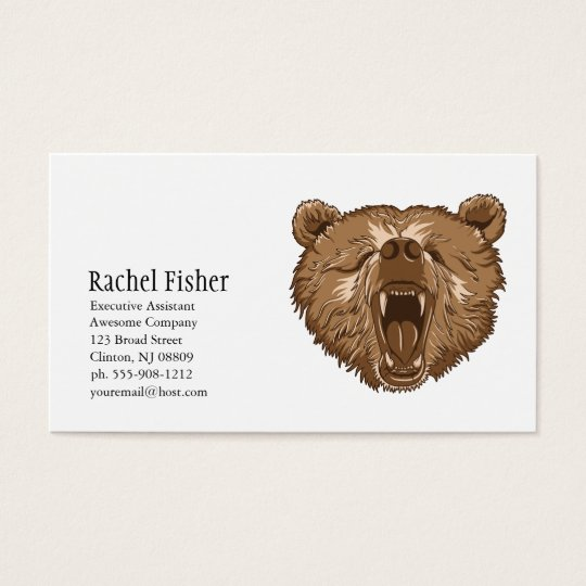 Brown Grizzly Bear Business Cards