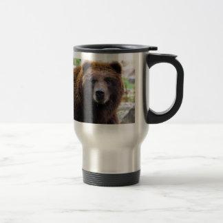 Brown Grizzly Bear Travel Mug