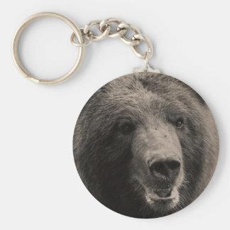 Brown Grizzly Bear Wildlife Photo Keychain