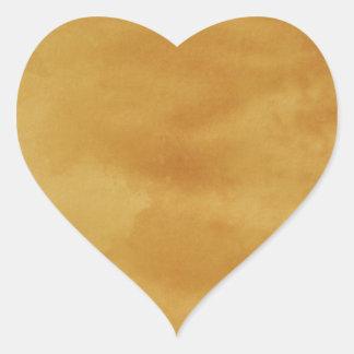 Brown, grungy background heart sticker