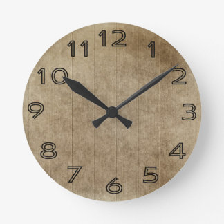 Brown Grungy Wood Clock
