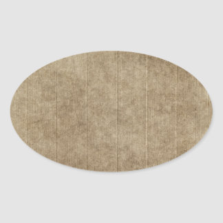 Brown Grungy Wood Oval Sticker