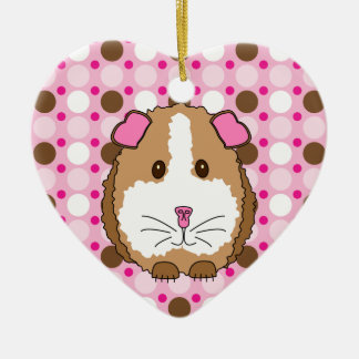 Brown Guinea Pig Christmas Ornament