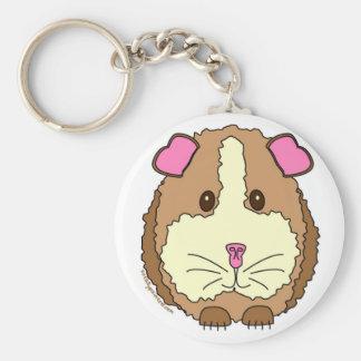 Brown Guinea Pig Key Ring