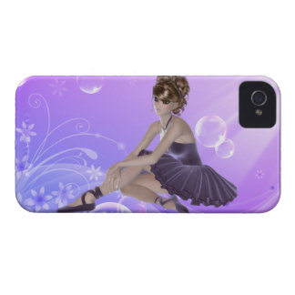 Brown Hair Ballerina iPhone 4 Barely There Case