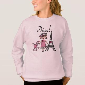 Brown Hair Diva Sweatshirt