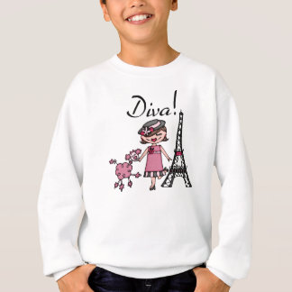 Brown Hair Diva Sweatshirt