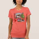 Brown Hair Girl I Love Camping Tshirt