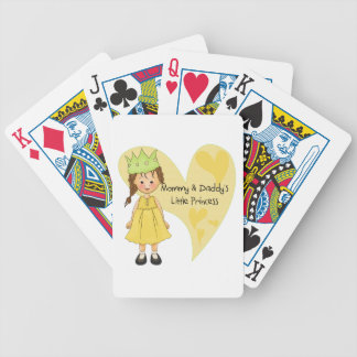 Brown Hair Mommy and Daddy's Princess Poker Cards