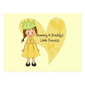 Brown Hair Mommy and Daddy's Princess Postcard