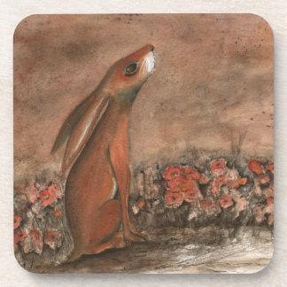 Brown Hare Coaster Set