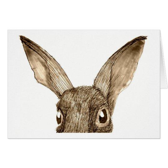 Brown Hare II Card