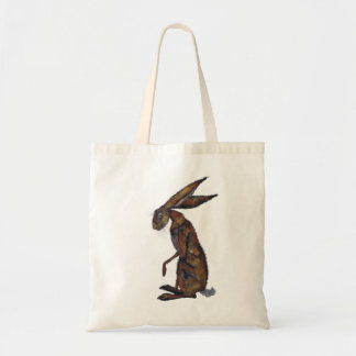 BROWN HARE TOTE BAG