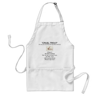 """Brown Hare's Ear Wet Fly-Cruel Trout""  Apron"