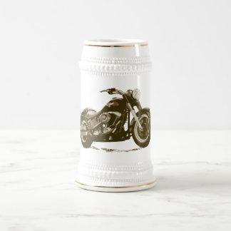 Brown Harley Motorcycle Beer Stein