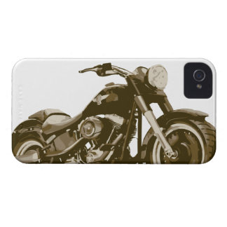 Brown Harley Motorcycle Case-Mate iPhone 4 Cases