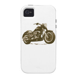 Brown Harley Motorcycle iPhone 4 Cover
